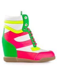 Nando Muzi Sporty Wedge Trainers Multicolour