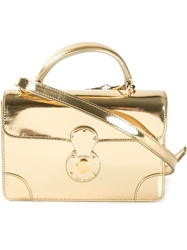 Ralph Lauren Mini 'Ricky' Shoulder Bag Metallic