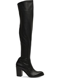 Strategia 80Mm Stretch Faux Leather Boots Black