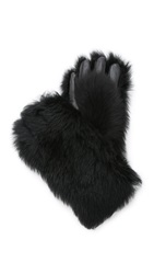 Marc By Marc Jacobs Shearling Gorilla Gloves Black