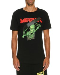 Off White Skeleton Mirror Logo T Shirt Black Black Pattern