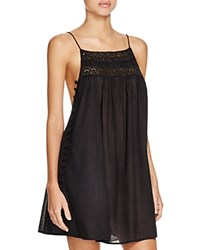Boho Me Pom Pom Mini Dress Swim Cover Up Black