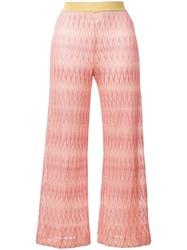 Missoni Cropped Palazzo Pants Orange