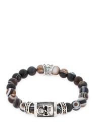 Cantini Mc Firenze Agata Luk Mik Beaded Bracelet Black
