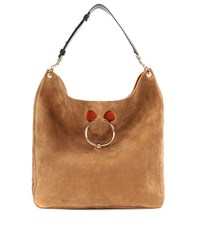 J.W.Anderson Pierce Hobo Large Suede Shoulder Bag Brown