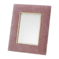 Aerin Valentina Velvet Photo Frame Dusty Rose 4X6 Pink