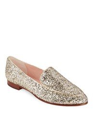 Kate Spade Calliope Glitter Loafers Gold