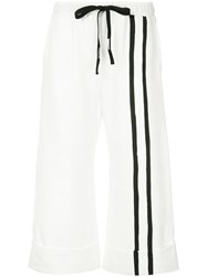 Taylor Crop Variegate Trousers White