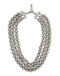 Lulu Frost Beam Triple Strand Crystal Necklace Clear