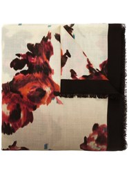 Marc Jacobs Brocade Floral Print Scarf Multicolour