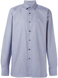 Raf Simons Houndstooth Check Shirt Blue