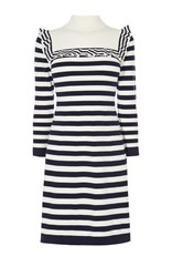 Karen Millen Breton Stripe Dress Multi Coloured Multi Coloured