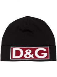 Dolce And Gabbana Dg Lrg Logo Hat Blk Red Black