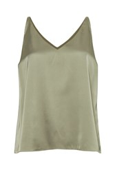 Great Plains Satin Luxe Vest Top Sage Green
