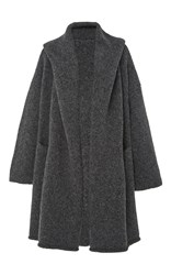 Lauren Manoogian Charcoal Capote Knit Coat Dark Grey