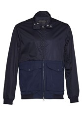 French Connection Men's Hybrid Army Harrington Jacket Blue