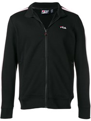 Fila Logo Stripe Jacket Black