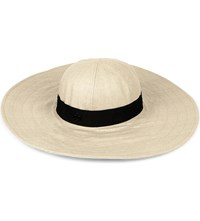Maison Michel Lucia Straw Hat Natural Black