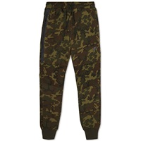 Nike Tech Fleece Camo Pant Sequoia And Black