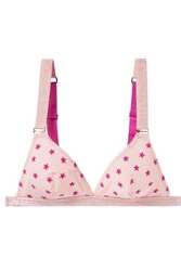 Stella Mccartney Betty Twinkling Flocked Mesh Soft Cup Triangle Bra Baby Pink