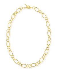 Aegean 18K Gold Twist Link Necklace Eli Jewels