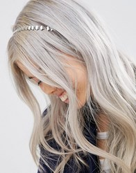 Asos Diamond Chain Headband Rhodium Silver