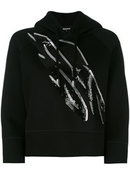 Dsquared2 Sequined Hoodie Black