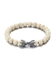 David Yurman River Stone And Sterling Silver Beaded Bracelet White