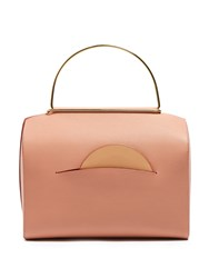 Roksanda Ilincic Signature Leather Bowling Bag Light Tan