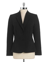 Tahari By Arthur S. Levine Two Button Blazer Black