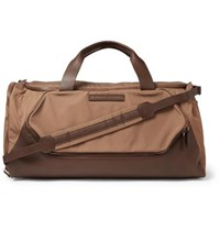 Brunello Cucinelli Leather Trimmed Nylon Holdall Brown
