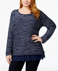 Styleandco. Style And Co. Plus Size Long Sleeve Lace Hem Top Only At Macy's