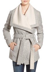 Bcbgeneration Women's Belted Two Tone Wrap Jacket