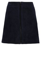 Reiss Felicity Mini Skirt Night Navy Dark Blue