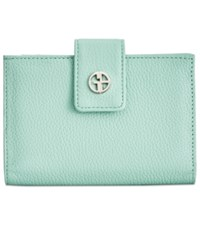 Giani Bernini Softy Leather Wallet Only At Macy's Mint Macaroon