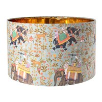 Mindthegap Hindustan Aquamarine Drum Lamp Shade Multi