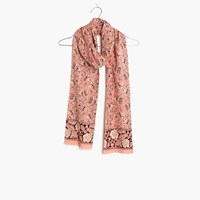 Madewell Assam Floral Scarf Faded Coral