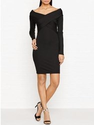 Alexander Wang T By Off The Shoulder Fitted Pencil Dress Black