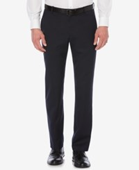 Perry Ellis Classic Fit Textured Flat Front Pants Dark Blue