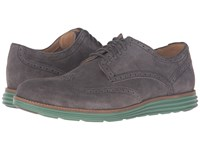 Cole Haan Original Grand Wing Oxford Pavement Suede Algae Green Men's Lace Up Casual Shoes Brown