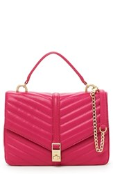 Botkier Dakota Quilted Leather Top Handle Bag Pink