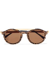 Thierry Lasry Fancy Round Frame Acetate Sunglasses Gold