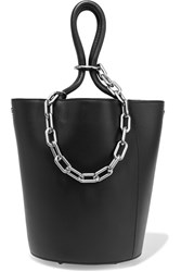 Alexander Wang Roxy Chain Embellished Leather Tote Black