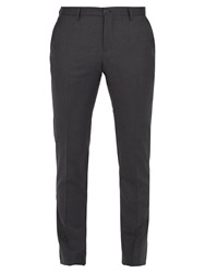 Etro Slim Leg Wool Trousers Dark Grey
