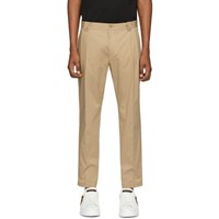Dolce And Gabbana Beige Straight Leg Trousers