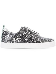 Pierre Hardy Patterned Slip On Sneakers Green