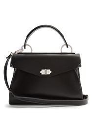 Proenza Schouler Hava Medium Leather Tote Black White
