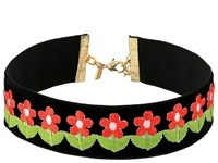 Vanessa Mooney The Flower Power Choker Necklace Black Necklace