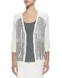 Haute Hippie V Neck Cardigan W Sequined Front