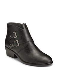 Aerosoles Urban Myth Buckled Faux Leather Ankle Boots Black